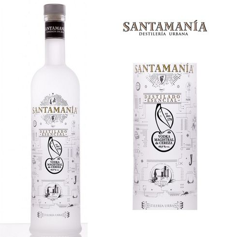 SANTAMANIA VODKA MAGISTRAL DE CEREZA