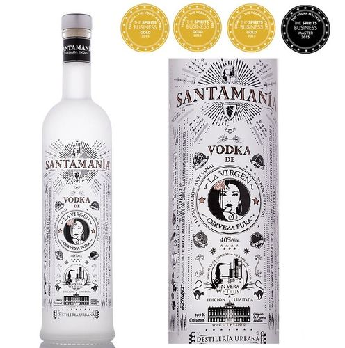 SANTAMANIA VODKA DE CERVEZA LA VIRGEN