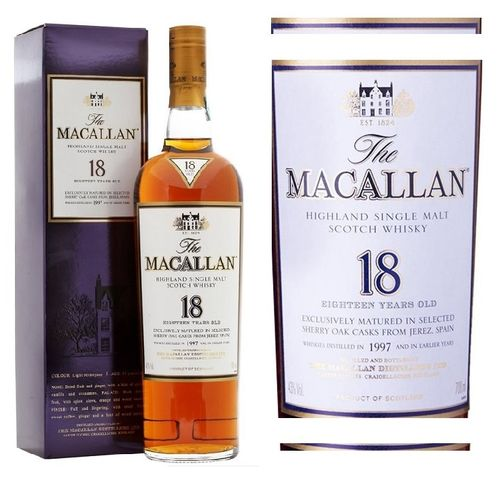 MACALLAN 18 SHERRY OAK  1997